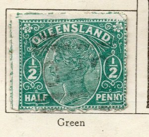 Queensland 1895 Early Issue Fine Used 1/2d. NW-113698