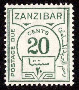 Zanzibar Scott J20 Mint never hinged.