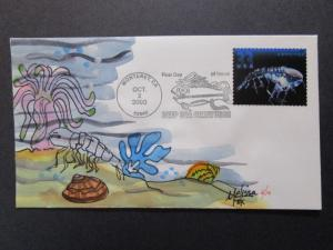 US - Melissa Fox Hand Painted FDC 6 of 10 / 2000 Sea Life (SC# 3442) - Z7347