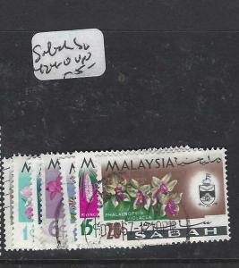 NORTH BORNEO  SABAH  (PP0105B)   ORCHIDS  SG 424-430   VFU