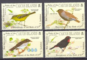 Turks & Caicos Islands Caicos Sc# 60-63 Used 1985 Audubon Birth Bicentenary
