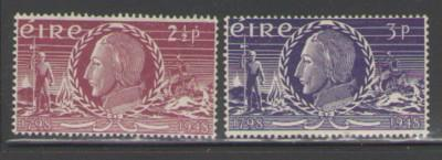 Ireland Sc 135-6 1949 Wolf Tone stamps mint