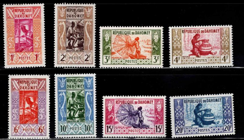 Dahomey Scott 141-148  MH* 1961 stamp set