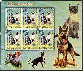 North Korea 2006 Dogs & Cats large perf sheetlet #1 c...