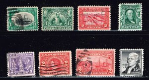 US STAMP 20TH USED US STAMPS COLLECTION LOT