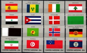 United Nations #528-43  MNH CV $7.20  (X2558)