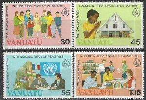 Vanuatu  430-3  MNH  International Year of Peace 1986