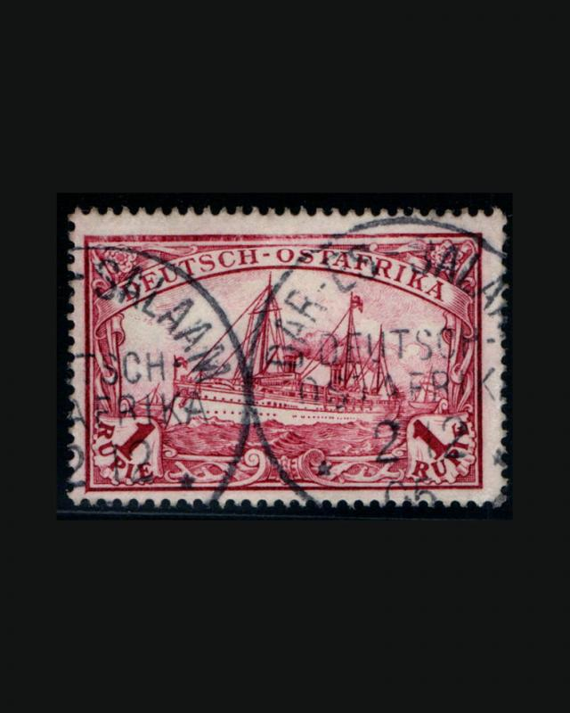 VINTAGE: GERMAN EAST AFRICA 1900 USD LH,,SCOTT #19 $47.5 LOT #1900X430