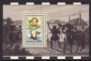 1991 Australia $1.05 George Vancouver & Edward Eyre S/S MNH Sc# 1226a CV $2.25