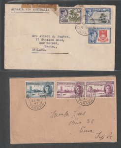 Gilbert & Ellice a 2 KGVI covers not FDC