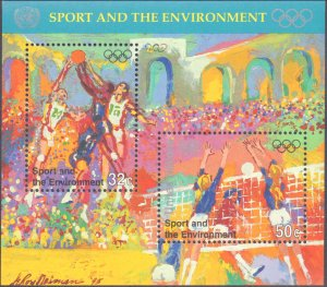 United Nations #685, Complete Set, Souvenir Sheet Only, 1991, Sports, Never H...