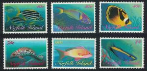 Norfolk Reef Fishes 6v 1st series SG#666=677
