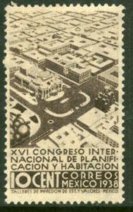 MEXICO 743 10¢ Planification Congress, BELLAS ARTES. MINT, NH. VF.