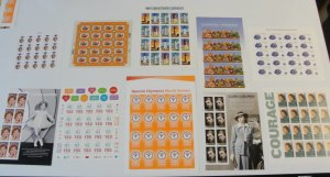 US Small Sheets Lot of 10 Forevers  All MNH OG