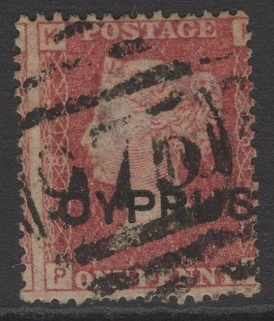 CYPRUS SG2 pl.181 1880 1d RED USED