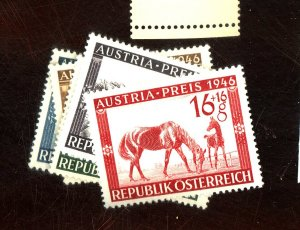 AUSTRIA #B179-183 MINT VF OG NH Cat $13