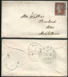 GB SCOTLAND 1855 THE CAIRNIES circular Scots local namestamp on cover......41880