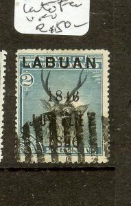 LABUAN (P2907B) JUBILEE 2C   DEER  LATE FEE CANCEL  SG63  VERY SCARCE   VFU