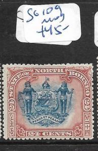 NORTH BORNEO (P0406B)  24C  MAN SG 109   MOG