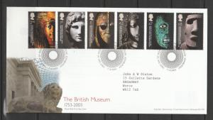 GB FDC 2003 British Musemn, Tallents House cancel