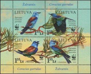 Lithuania 2008 Sc 878 Birds Roller CV $4