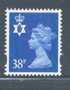 Great Britain Northern Ireland NIMH82 1999 38p Machin Head stamp  mint NH
