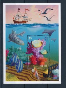 [35006] Nevis 1995 Marine Life Fish MNH Sheet