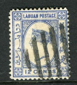 LABUAN; 1892-93 classic early issue fine used 12c. value
