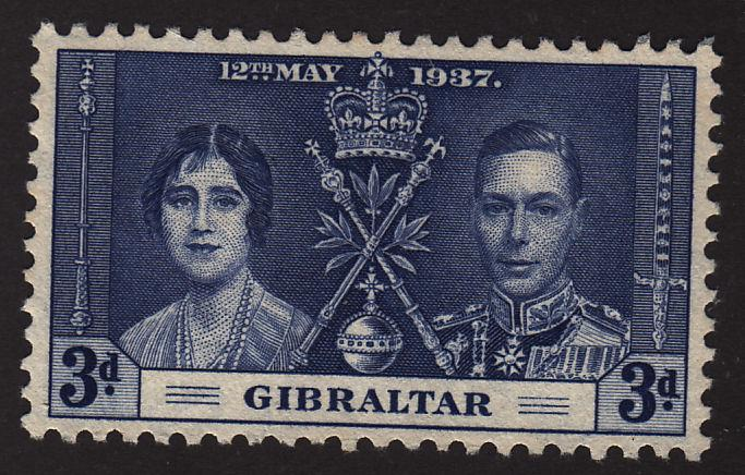 Gibraltar 106 Coronation Issue 1937