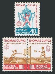 Indonesia 1042-1044,MNH.Michel 920-922. 11th Thomas Cup,badminton,1979.
