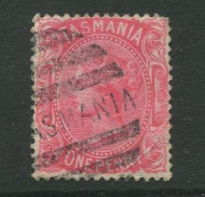 Tasmnia  #60  Used  1878  Single 1p Stamp