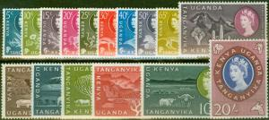 KUT 1960 set of 16 SG183-198 V.F Very Lightly Mtd Mint