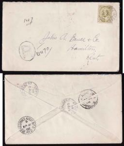 Canada #2610 - 7c Edward reg'd-Prince Albert, Sask-Ap 20 1906-B/S Regina & Princ