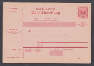 Germany H&G J9, J10 mint. 1893-98 10pf and 20pf on pink Money Order Cards