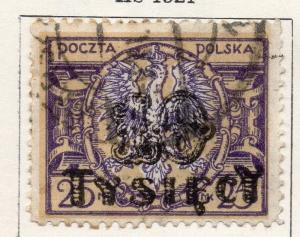 Poland 1923 Early Issue Fine Used 10T. Surcharged 133479