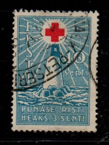 Estonia Sc B22 1931 10s+3s Light of Hope Red Cross stamp used