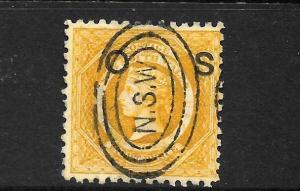 NEW SOUTH WALES 1879-85   8d    QV    OFFICIAL    FU  P10  SG O10