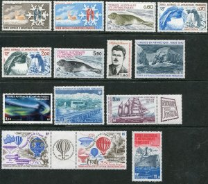 FSAT Complete Year 1984 Year Set NH Arctic, French Southern Scott 105-11, C78-84