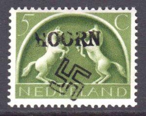 NETHERLANDS 251 LOCAL HOORN GERMANY OCCUPATION OVERPRINT OG NH U/M F/VF