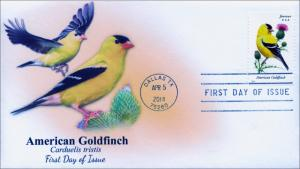 SC 4890, 2014 Songbirds, American Goldfinch, FDC,  Item 14-046