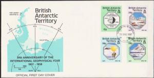 British Antarctic Territory Scott 141-144 Unaddressed.