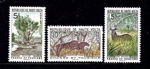 Burkina Faso 97-99 MNH 1962 Tourism