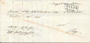 Czech Republic Stampless Cover - Bilin to Prague - 1843