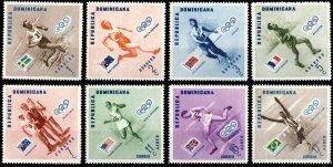 REPUBLICA DOMINICANA 1957 JO Melbourne Olympics (II) set Mi.587A/92A Neuf/Mint**