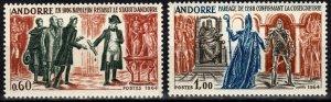 Andorra (Fr) #159-60  MNH CV $45.00  (X2535)