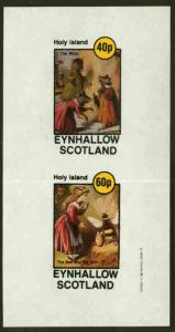 Eynhallow 1982 Children & Animals (Mice & Girl wi...