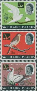 Pitcairn Islands 1967 SG73-75 Birds MNH