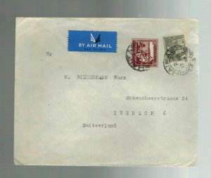 1946 Haifa Palestine cover to Switzerland J Ezra
