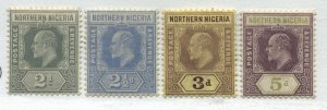 Northern Nigeria KEVII 1910 2 1/2d to 5d mint o.g. hinged
