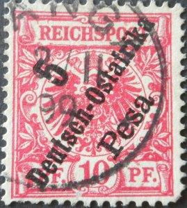 German East Africa 1896 Five Pfennig with TANGA postmark